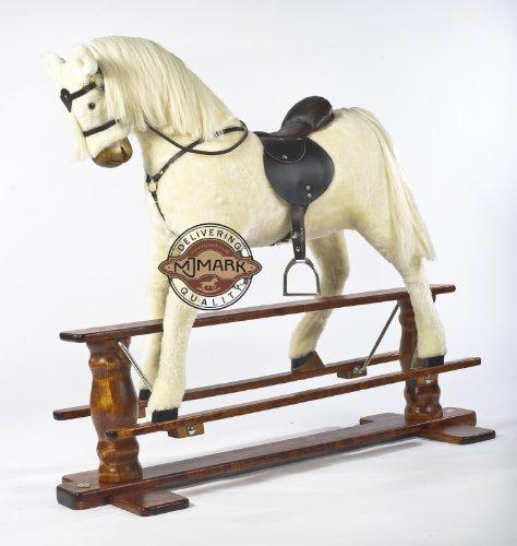 """ALBINO"" VERY LARGE New Rocking Horse ""SUN II"" from MJMARK"
