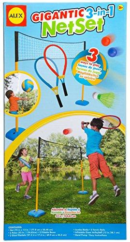 Alex Toys 3-in-1 Kid's Gigantic Net Set for Volleyball/ Badminton and Tennis(Assortment)
