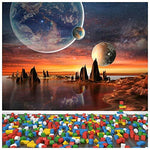 Alien Landscape Wall Mural Planets Space Photo Wallpaper kids Bedroom Home Decor available in 8 Sizes Gigantic Digital