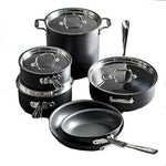 All-Clad E786SCDI NS1 Nonstick Dishwasher Safe PFOA Free Cookware Set, 10-Piece. Black