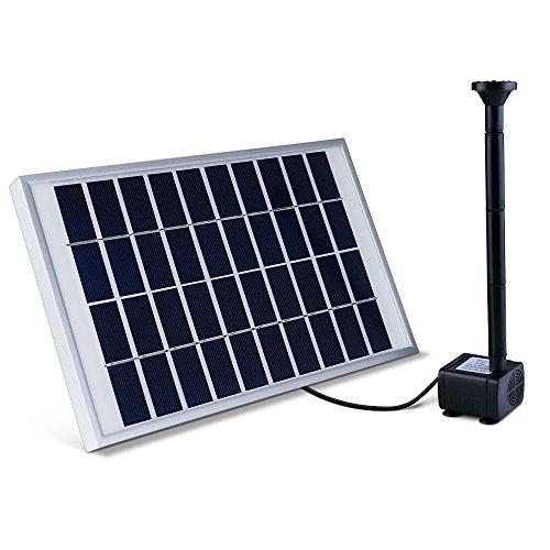 ALLESCOOL 5W Solar Water Pump, Water Fountain Pumps Kit Solar Powered for Bird Bath, Small Pond, Small Pool, Patio Garden,Backyard