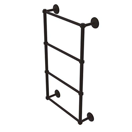 Allied Brass MC-28G-24-Orb Monte Carlo Collection 4 Tier 24 Inch Ladder Towel Bar with Groovy Detail