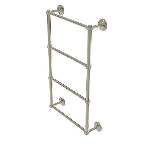 Allied Brass MC-28G-36-PNI Monte Carlo Collection 4 Tier 36 inch Ladder Towel Bar with Groovy Detail