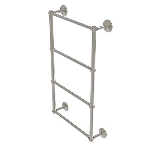Allied Brass MC-28T-24-SN Monte Carlo Collection 4 Tier 24 inch Ladder Towel Bar with Twisted Detail