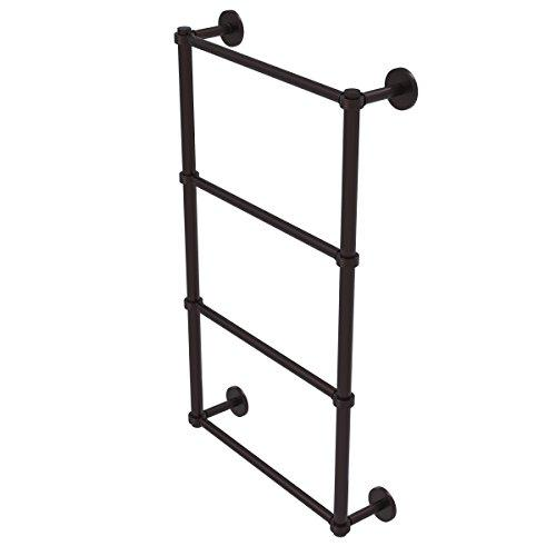 Allied Brass P1000-28G-36-Abz Prestige Skyline Collection 4 Tier 36 inch Ladder Towel Bar with Groovy Detail