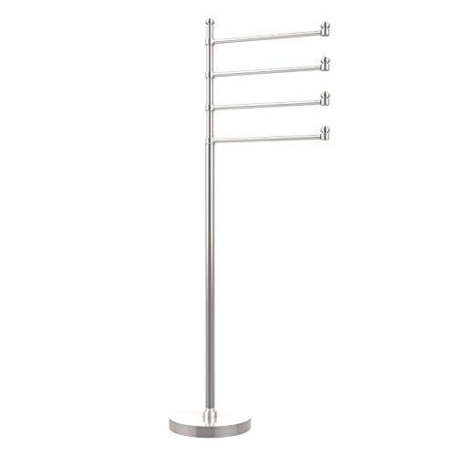 "Allied Brass SB-84-PC Polished Chrome Southbeach Four Swing Arm 49"" Towel Stand from the Southbeach Collection"