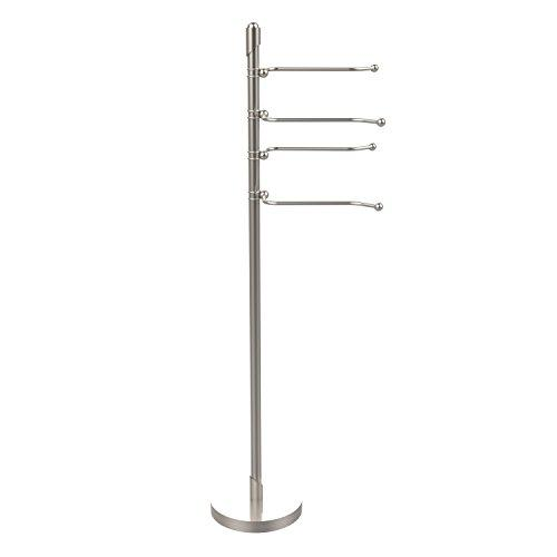 Allied Brass SH-84-SN Satin Nickel Soho Four Swing Arm Towel Stand from the Soho Collection