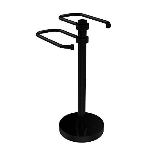 Allied Brass TS-15-BKM Free Standing Two Arm Guest Towel Holder,