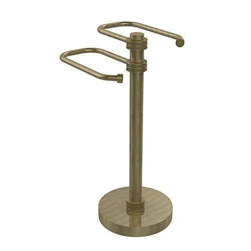 Allied Brass TS-15D-ABR Free Standing Two Arm Guest Towel Holder,