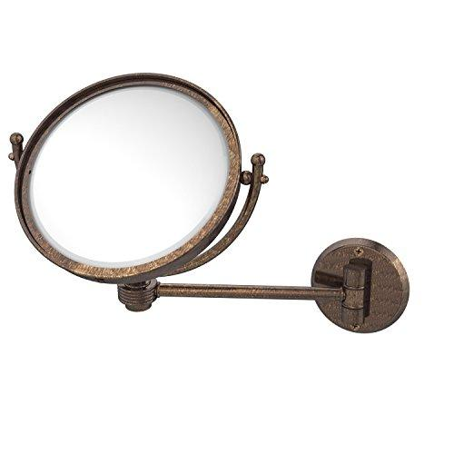 Allied Brass WM-5G/2X-VB 8-Inch Wall Mounted Make-Up Mirror with 2x Magnification, Venetian Bronze