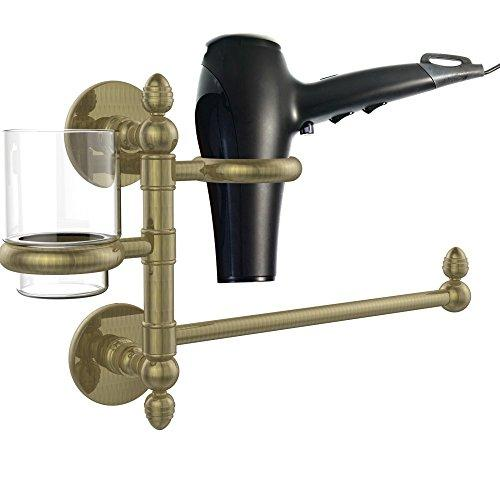 Allld|#Allied Brass P1000-GTBD-1-ABR Prestige Skyline Collection Hair Dryer Holder and Organizer,