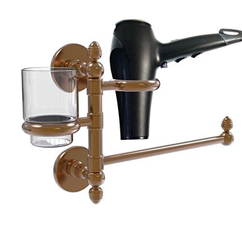 Allld|#Allied Brass P1000-GTBD-1-BBR Prestige Skyline Collection Hair Dryer Holder and Organizer,
