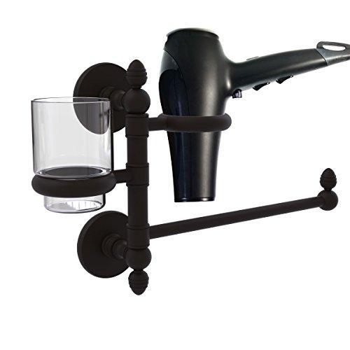Allld|#Allied Brass P1000-GTBD-1-ORB Prestige Skyline Collection Hair Dryer Holder and Organizer,