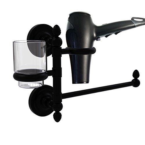 Allld|#Allied Brass PR-GTBD-1-BKM Prestige Regal Collection Hair Dryer Holder and Organizer,