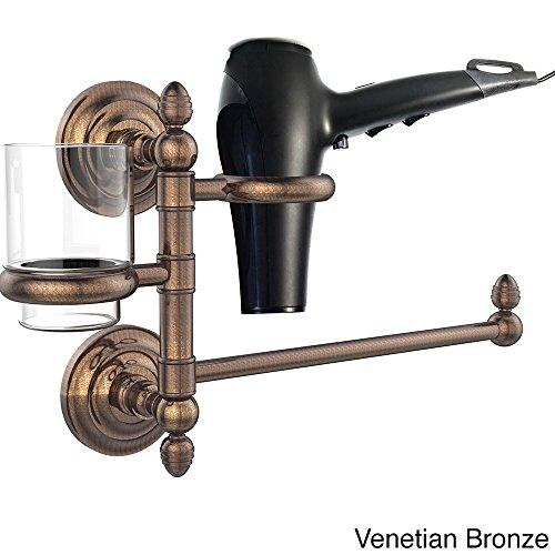 Allld|#Allied Brass QN-GTBD-1-VB Que New Collection Hair Dryer Holder and Organizer,