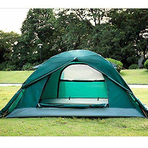 Aluminum pole double bunk outdoor tent camping tent rain and snow four seasons with snow skirt mountaineering tent camping couple