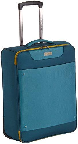 American Tourister Suitcase, 55 cm, 40 Liters, Petrol Blue/Mustard