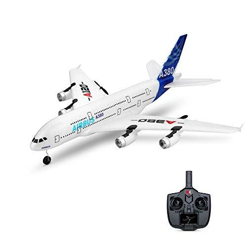 Amyove A120-A380 RC Airplane Airbus Fixed Wing Plane Remote Controller Outdoor Plane Outdoor toys 510mm Wingspan RTF With Mode 2 2.4GHz 3CH