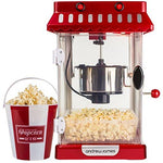 Andrew James Retro Cinema Style Kettle Popcorn Maker Includes Four Reusable Popcorn Serving Buckets