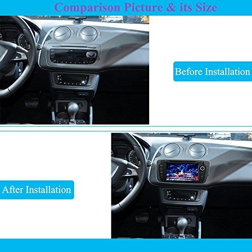 Android 8 0 Car Stereo, Hi-azul 2 Din Head Unit In-Dash Octa-Core RAM 4G  ROM 32G 7 Inch Sat Nav with Multi-touch Screen and DVD Player for Seat  Ibiza