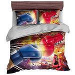 Andrui Bedding Set 3D Basketball Football Boxing Motorcycle Racing Car Sports Style Microfiber Men Teen Boys Kids Duvet Cover and Pillowcases, Single
