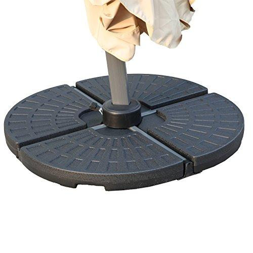 Angel Living 5802213 13L Sector Parasol Base Stand Weights for Banana Hanging Cantilever Umbrella Parasol Set of 4PCS