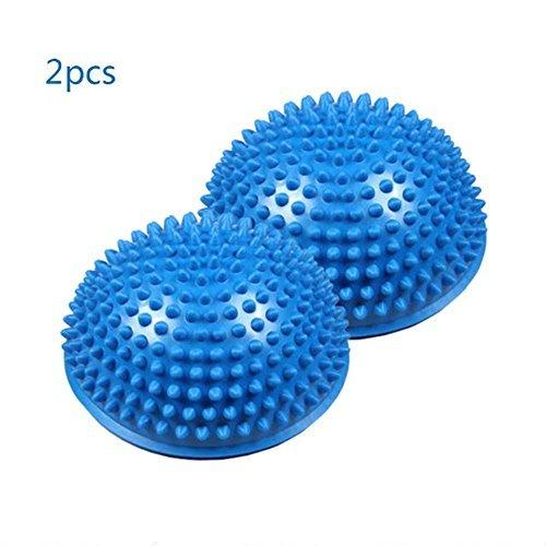 Anti-slip Foot Massage Ball, Half Ball Massage Mat Exercise Balance Point for Gym Yoga Pilates (Blue)