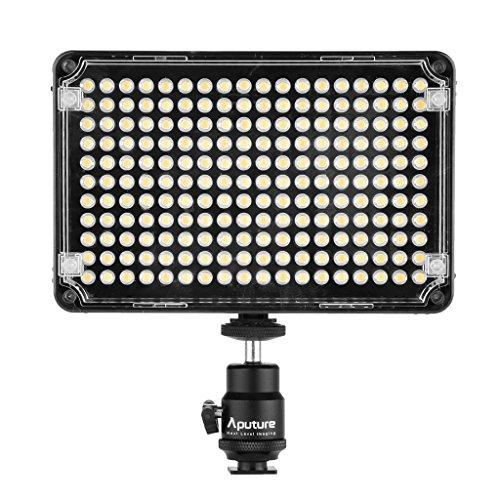 "Aputure Amaran AL-H198C CRI 95+ 2014 Newest 198 LEDs Camera Video Light For Canon Nikon Sony Digital Camera DLSR Multiple Battery Options 1/4"" Hot Shoe Mount Brightness and Color Temperature Adjusted Automatically with Carrying Bag"