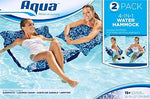 Aqua Leisure AQL12407X2 2PK Monterey Lounge - Blue Orchid Print Pool Lounger