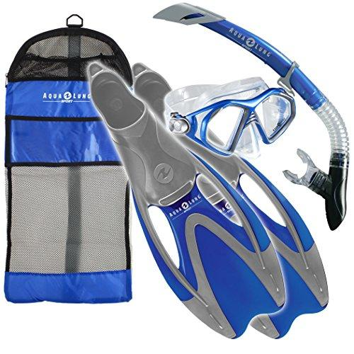 Aqua Lung Sport Admiral LX Snorkelling Set - Blue, Small