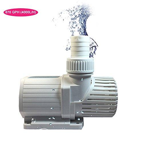 Aquarium Water Pump, 870 GPH (4000L/H) Submersible Water Pump for Fountain  Pond Fish Tank Statuary Water Pump Hydroponics - with 4 92ft (1 5M) Power