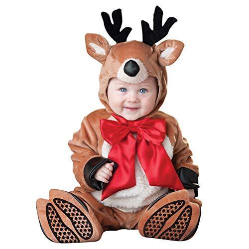 ARAUS Baby Christmas Costume Boy Girl Santa Claus Snowman Elk Elf Xmas Jumpsuit Outfit 6-24 Months
