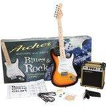 Archer SS10JRPAKNA SS10 Blues and Rock Jr. Electric Guitar Package - Natural
