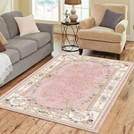 Area Rugs Living Room Carpets Persian Flower Printed Rugs Soft, Comfortable Premium Quality Material (71 x 111 inches)