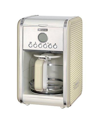 Ariete UK 1342 Retro Filter Coffee Machine, 12 cups, 2000 W, Vintage Series (Beige Cream)