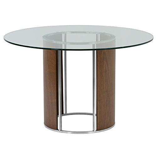 Armen Living Dining Table, Stainless Steel