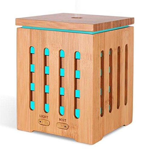 Aroma Diffuser 200ML Ultrasonic Essential Oil Diffusers NEW100 Cool Mist Humidifier 7-Color LED Fragrance Lamp Waterless Automatically Shut-Off for Home Office, Wood Grain, 200ml