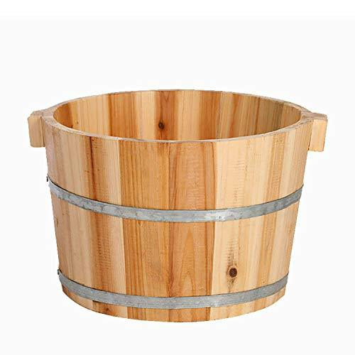 ARRYY Natural Wooden Foot Spa Barrel Sauna Washing Chinese Fir Bucket Gift for Parents And Kids Basin Bathtub Personal Care Appliance Household Health Care Feet Bath Bucket