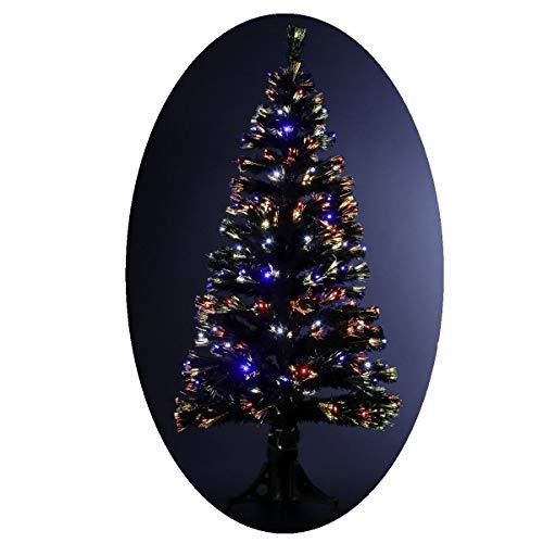artificial fibre optic christmas tree with 136 led lights light effects with control box