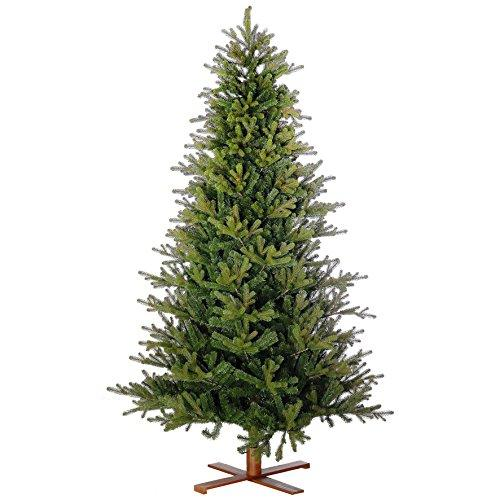Artplants Artificial Christmas tree ROME, green, 6ft/180cm, Ø4ft/125cm - Plastic Christmas tree/Artificial Xmas tree