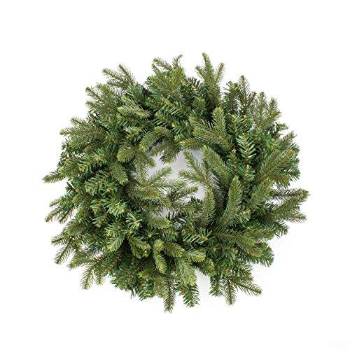 "Artplants Artificial fir wreath WILLI, Ø 20"" / 50 cm - Christmas wreath/Artificial autumn wreath"