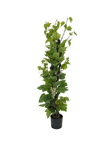 artplants - Decorative Grape vine with 120 leaves, 3 vines, 5 ft / 160 cm - Plastic grape vine / Silk plant