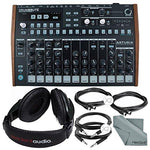 Arturia DrumBrute Analog Drum Machine and Accessory Bundle w/Stereo Headphones + Cables + Fibertique Cloth