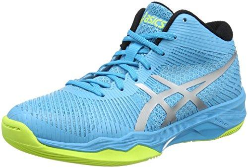 ASICS Women's Volley Elite Ff Mt Volleyball Shoes, Blue (Aquarium/Silver 400), 6.5 UK