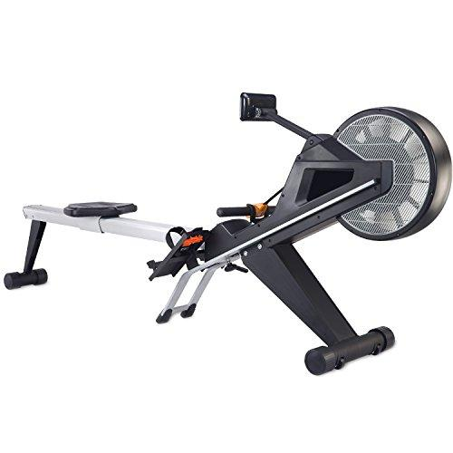 AsVIVA Rower RA10 Pro | Rowing Machine with 10 kg Flywheel Mass and Magnetic Resistance Multifunctional Meter with 16 Levels and 12 Preset Programs| Incl. Built-in Pulse Receiver