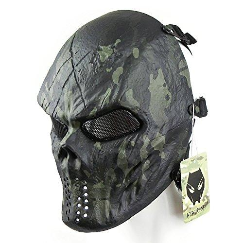 ATAIRSOFT Tactical Protective Paintball Airsoft Plastic Hockey Cosplay Evil Full Face Mask
