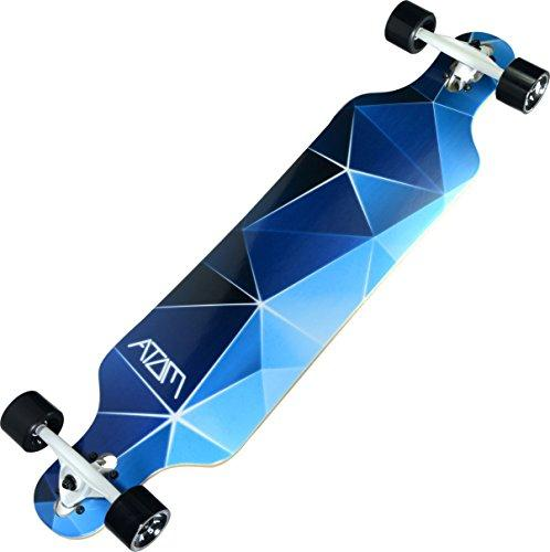 "Atom Longboards Atom Drop Through Longboard - 40"", Blue Geo"