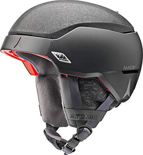 ATOMIC Mountain Ski Helmet, Count AMID, Head Size 51-55 cm, Black, Small