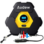 Audew DigitalTyre Digital Inflator, 12V DC Cigarette Lighter Plug Portable Air Compressor 150 PSI Pump,LED Light with 3 Meters Power Cord Tyre & Wheel Tools for Car, Truck, Bicycle or RV, Basketball