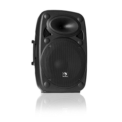 "auna SLK-10-A • Active PA Speaker • Mobile PA System • Floor-Standing Speaker • 10"" (25 cm) • 400 W Max. • XMR Bass Technology • Bluetooth • USB • SD • MP3 • Line In / Out • Flange Connection • Black"